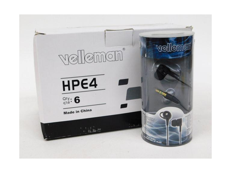 Lot of 6 Velleman HPE4 Earbuds/Earphones