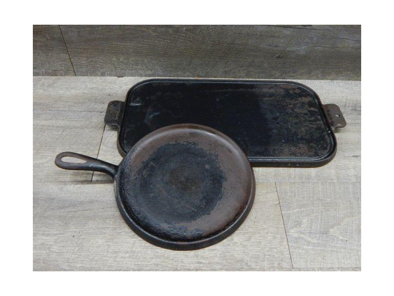 Round and Flat Cast Iron Griddles