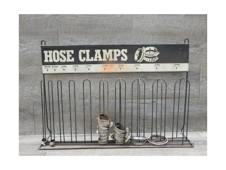 Old Hose Clamp Display Stand