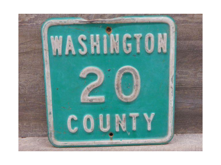 Washington County Road Steel Sign
