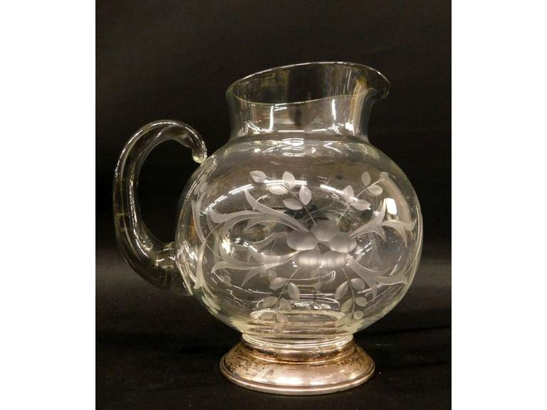 Glass Pitcher with Sterling Base