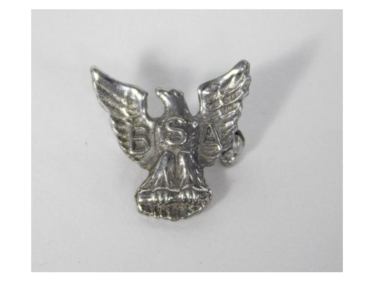 Sterling Silver Boy Scouts of American Eagle Pin