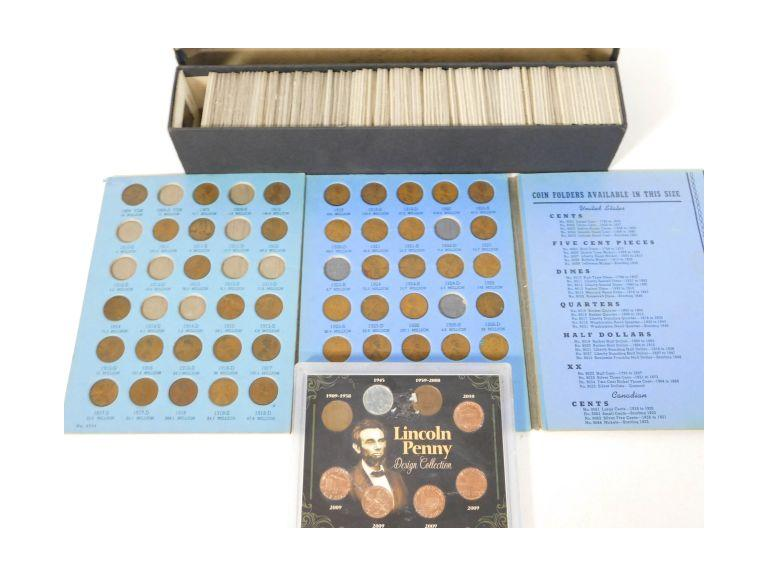 Wheat Penny Collection with Lincoln Cent Book and More!