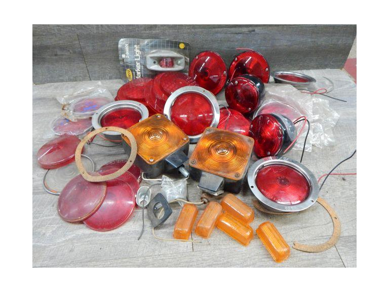 Large Lot of Automotive  Lights and Covers