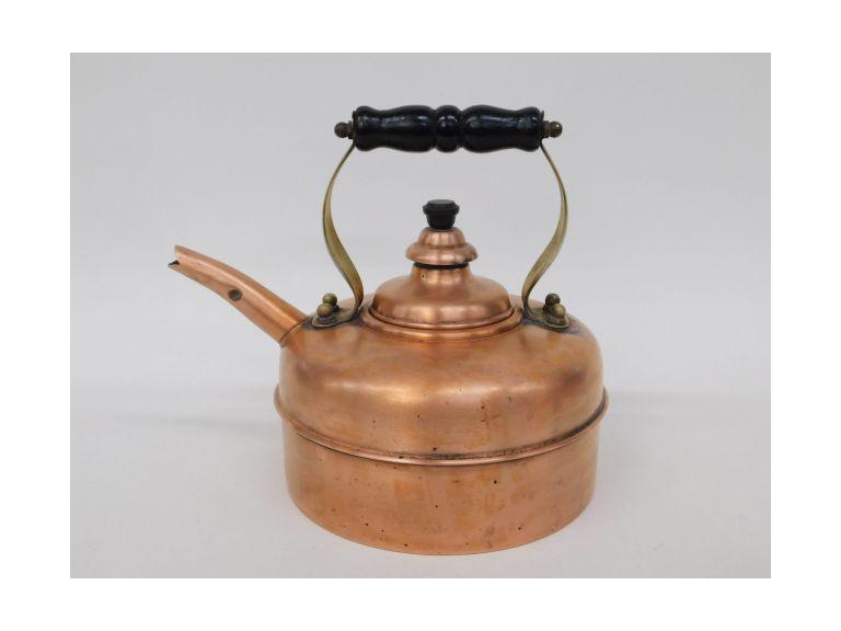 Simplex Solid Copper Whistling Kettle - England