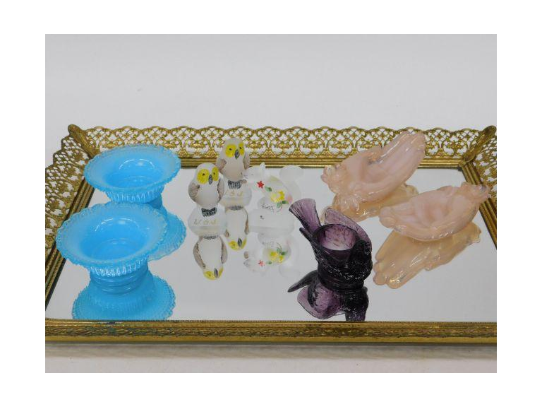 Art Glass Collection Including Figurines, Salt Cellars and More