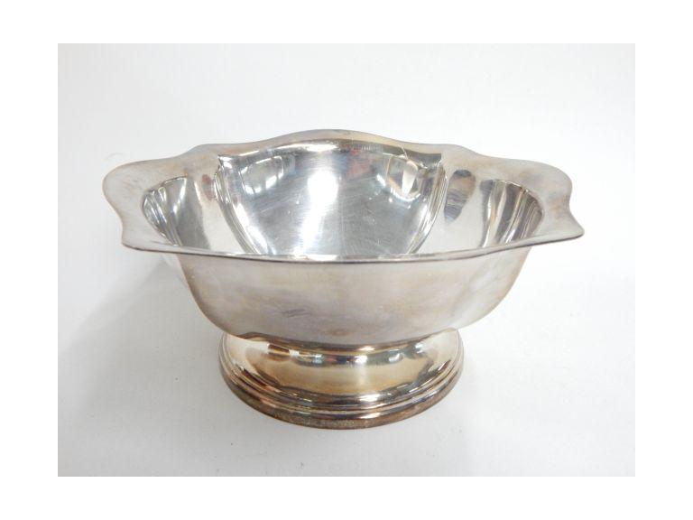US Navy Marked Silver Plate Serving Bowl