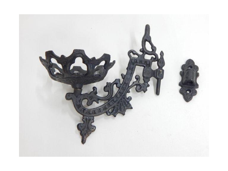 Cast Iron Wall Mount Lantern/Candle Holder