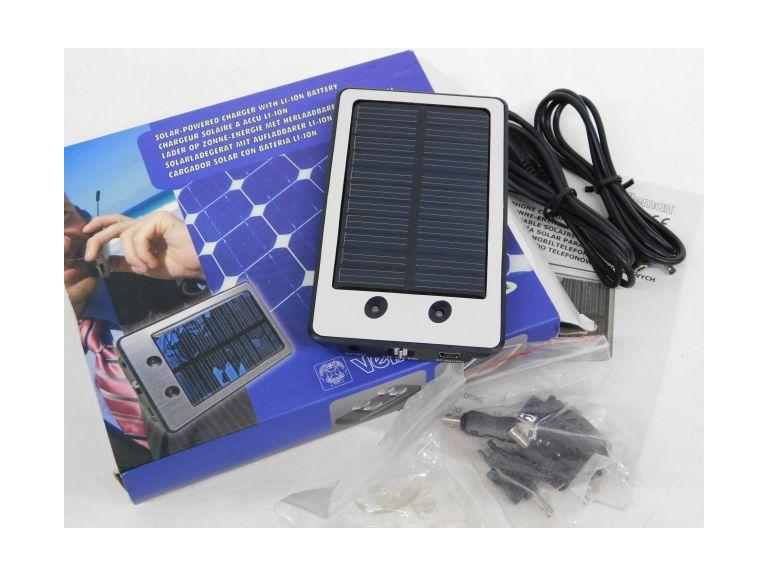 Velleman SOL17 SOLAR-POWERED CHARGER WITH LI-ION BATTERY - 3.7V / 2000mAh