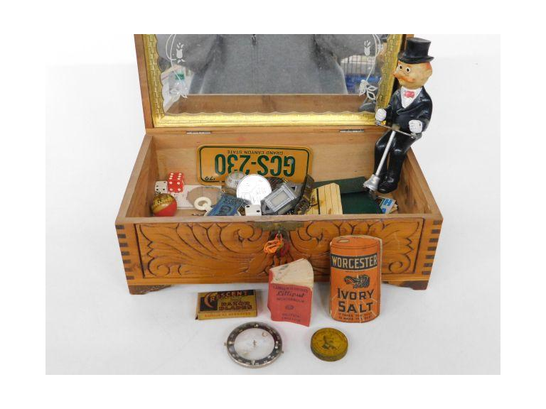 Treasure Chest Filled with Vintage Collectibles