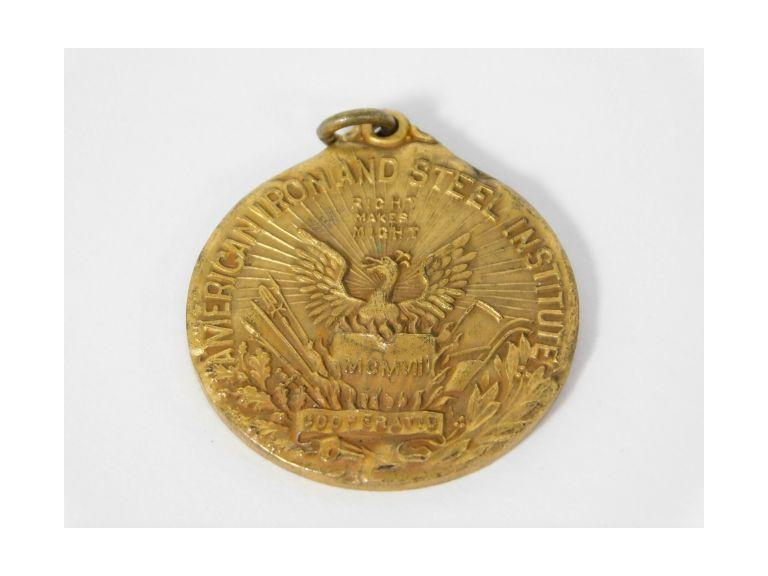 1913 American Iron and Steel Institute Medallion