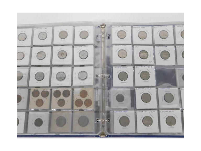 Binder Filled with Canadian Coins