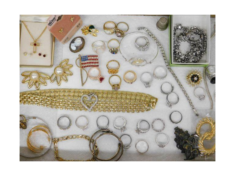 Costume Jewelry Collection w/ Loads of Rings