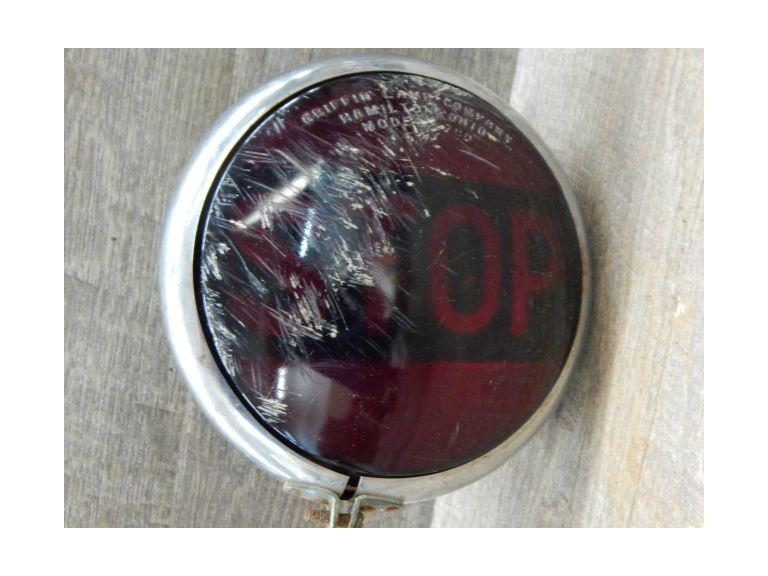 Vintage Red Glass Stop Light
