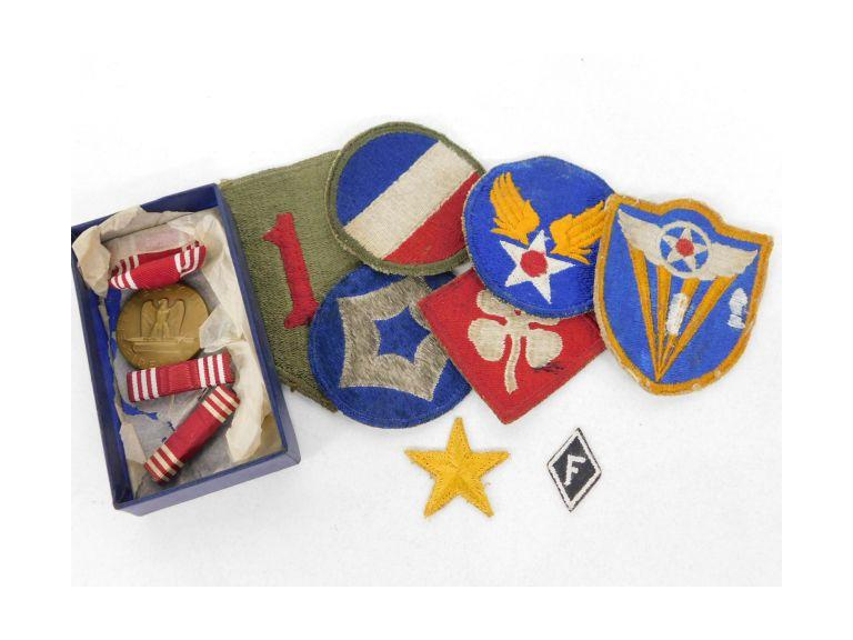 WW2 Patches and Good Conduct Ribbon