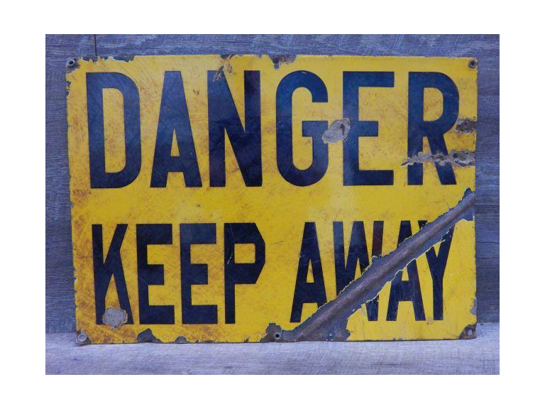 Industrial Enameled Steel Danger Sign