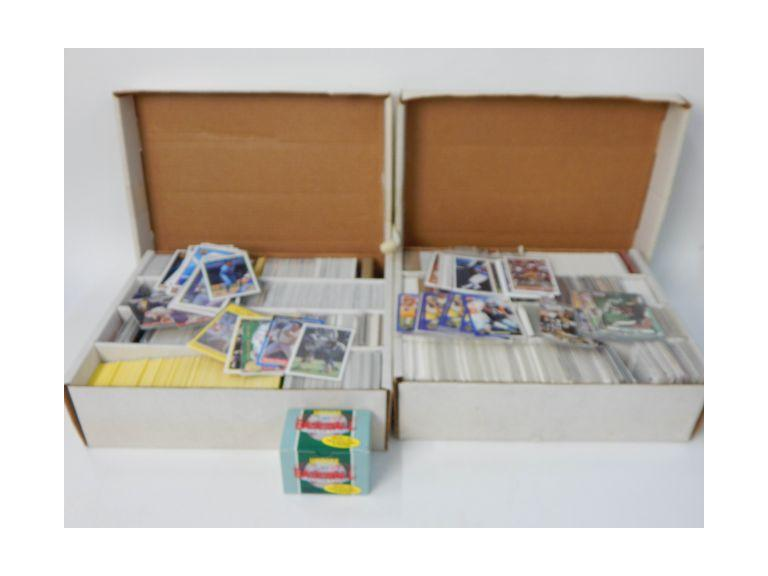 Pair of Large Card Boxes Full of 1990's  Sports Trading Cards