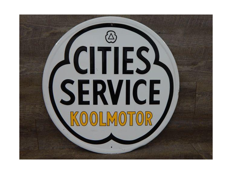 Large City Services Koolmotor Embossed metal Sign