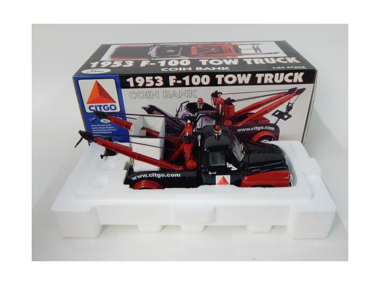 Gear Box Citco F-100 Tow Truck Die-Cast Coin Bank