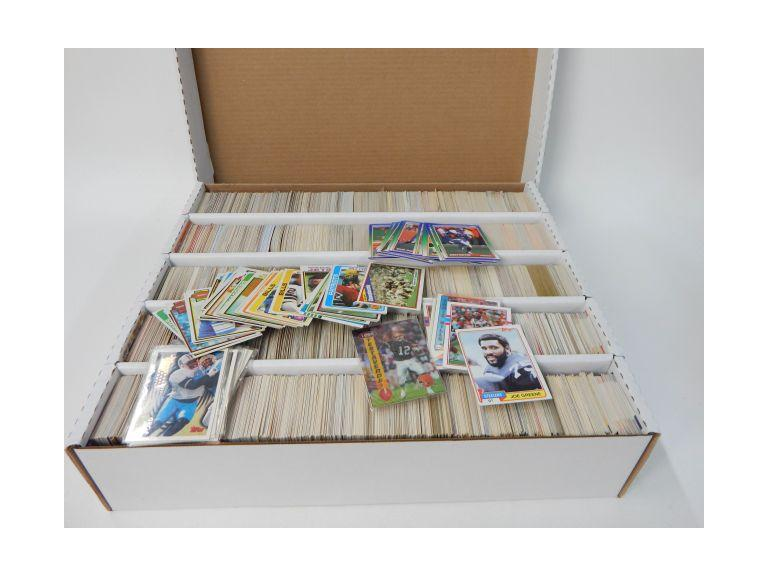 Large Card Box of 1970's -1990's Football Trading Cards