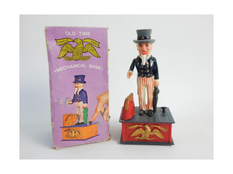 Uncle Sam Mechanical Coin Bank
