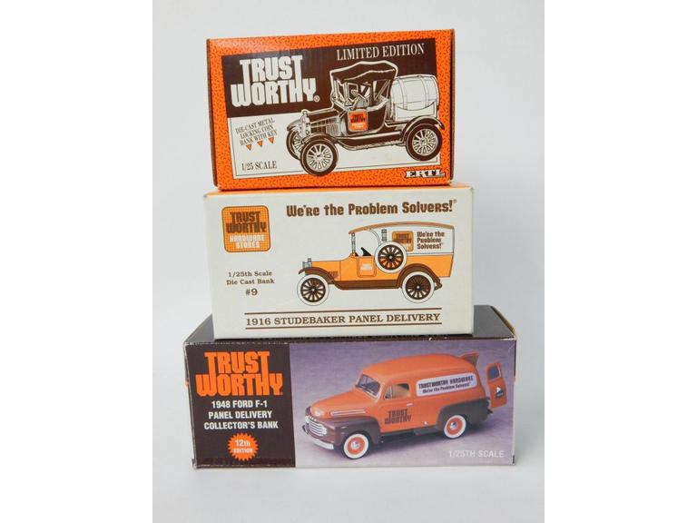 Trust Worthy Hardware Die-Cast Vehicle Coin Banks