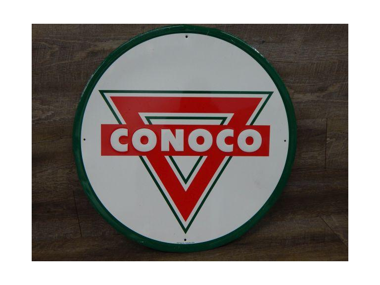 Large Embossed Conoco metal Sign