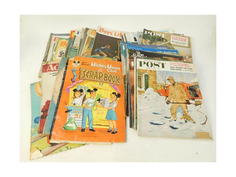 Very Large Collection of Vintage Magazines and Children's Books