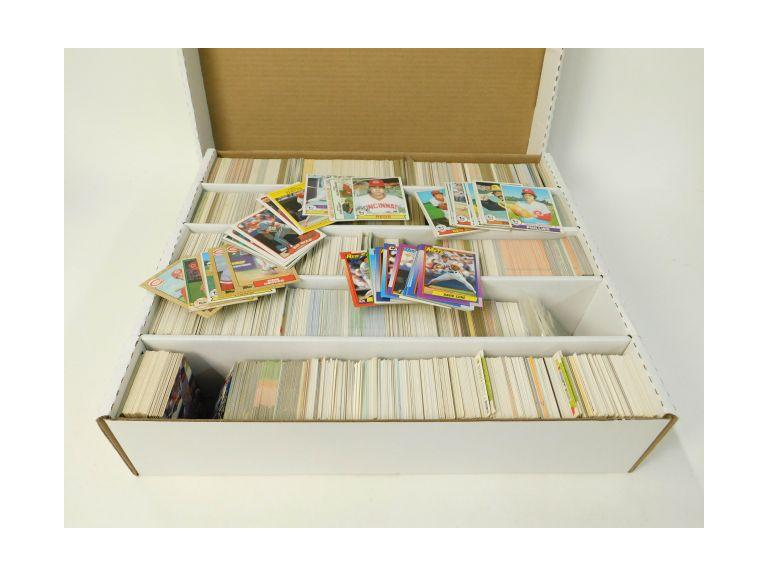 Large Card Box of 1970's, 80's and 90's  Baseball Trading Cards