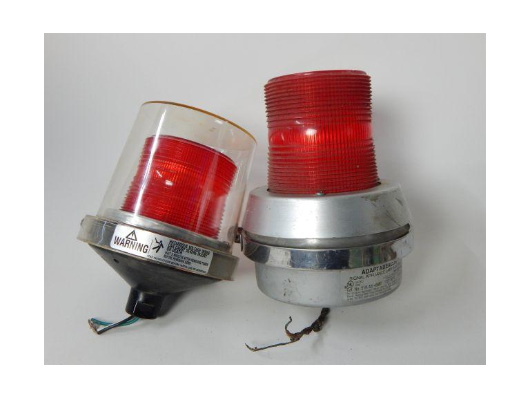 Red Beacon Industrial 100 volt lights