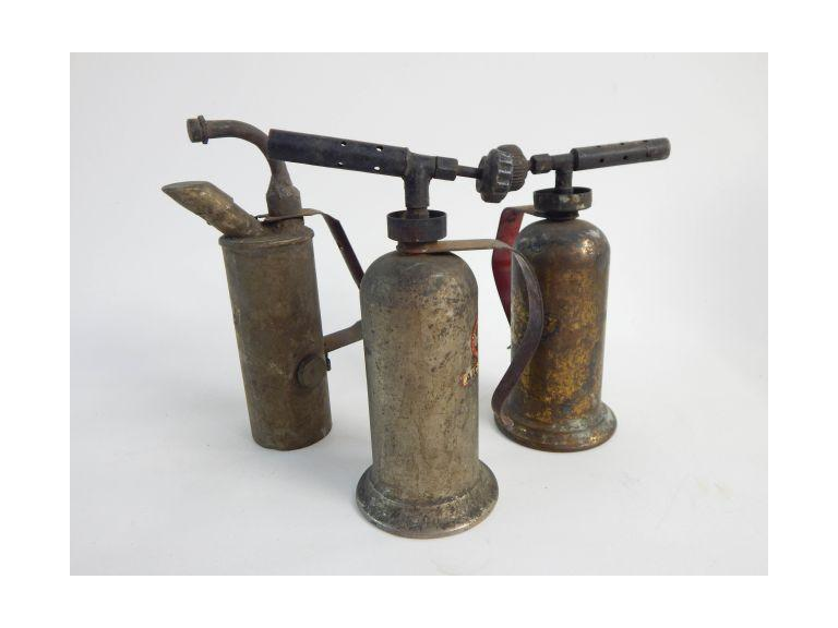 Collection of Old Alcohol Torches
