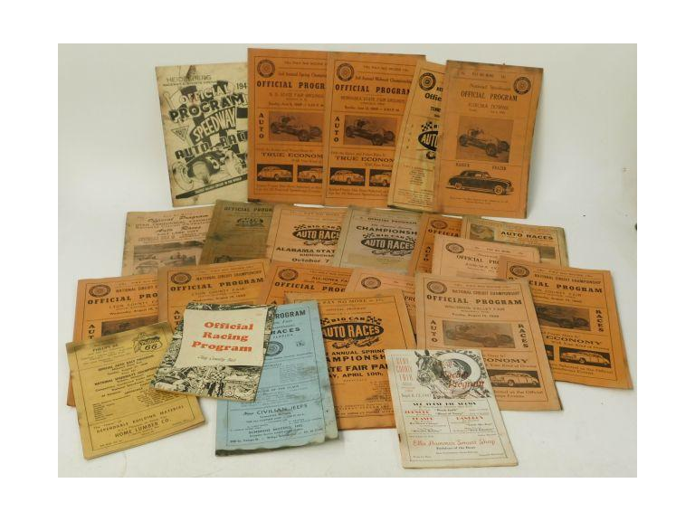 Collection of  1940's Racing Programs
