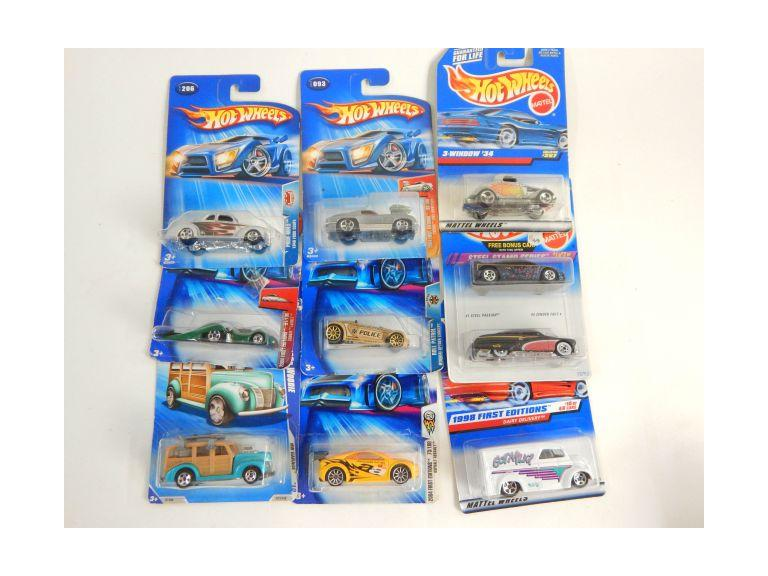 Collection of New Hot Wheels die-cast Cars