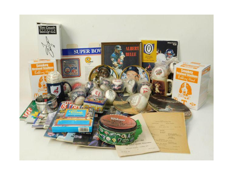 Large Sports Collectibles Lot
