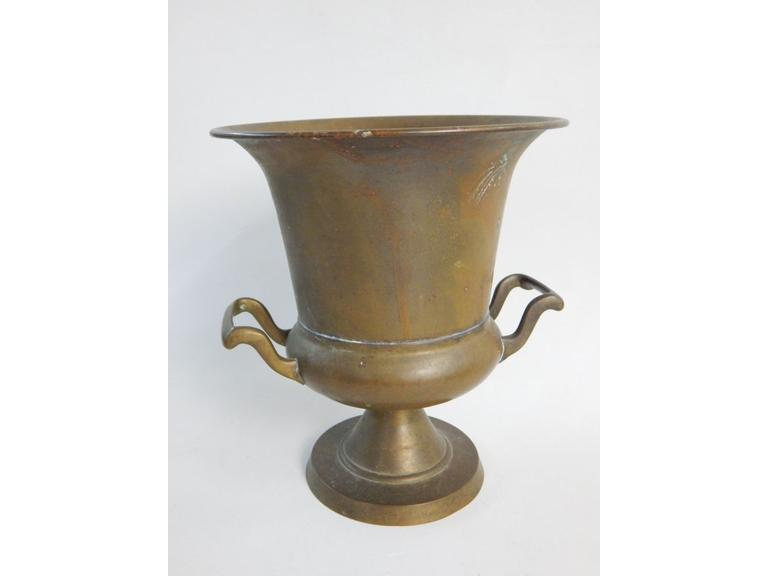 Solid Brass Trophy Planter