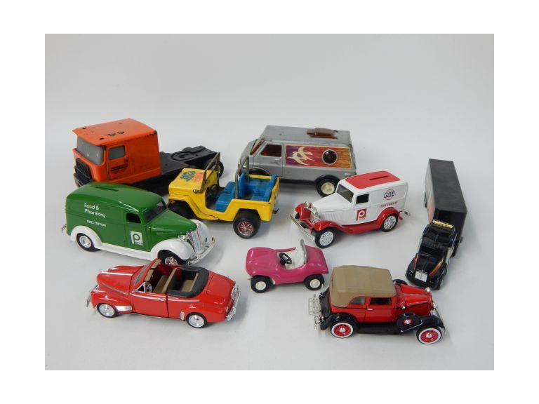 Collection of  Die-Cast and Metal Toy Cars & Trucks