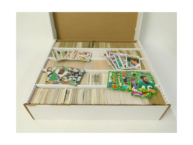 Large Card Box of 1980's and 90's  Football Trading Cards