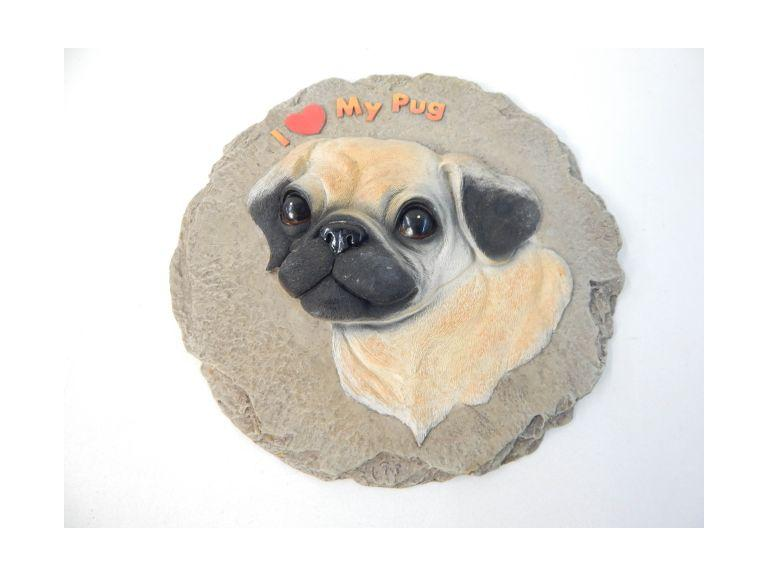 I Love My Pug Wall Plaque