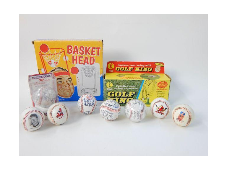 Collection of Sports Games and Baseballs