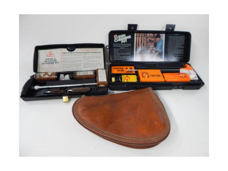 Padded Hand Gun case and Gun Cleaning Kits