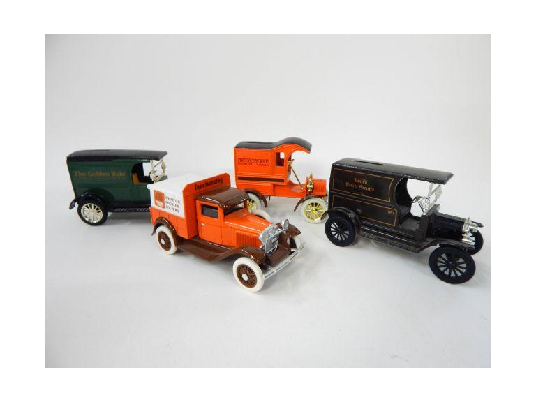 Collection of Die-Cast Delivery Truck Banks