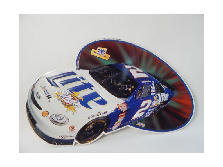 Old Miller Lite Rusty Wallace Metal Sing