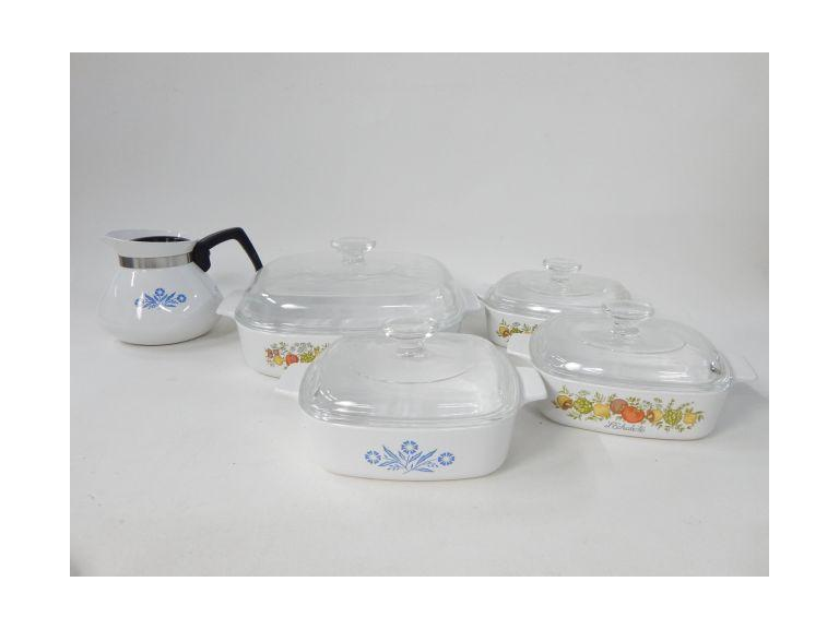 Old Corning Ware Casseroles and Kettle