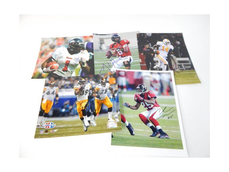Collection of Autographed Football Player Photographs