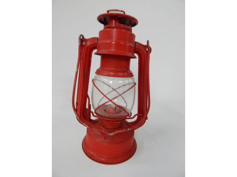 Old World Light Tin Barn Lantern