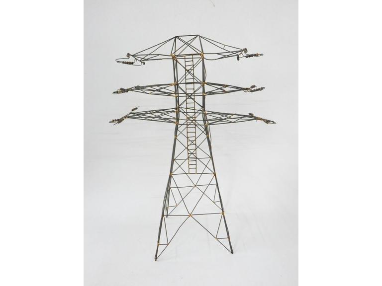Tall Metal Art Power Line Frame