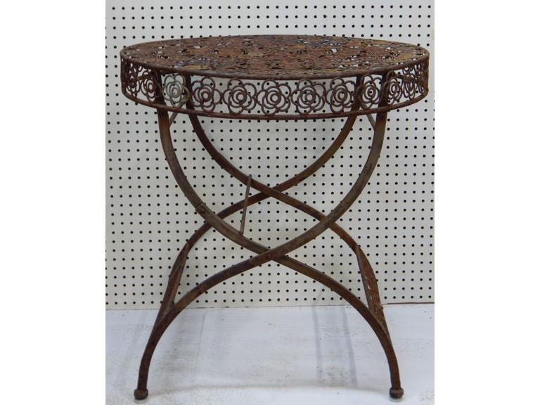 Vintage Decorative Steel outdoor Table