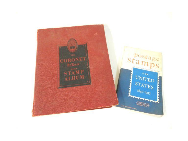 Vintage Postage Stamp Album and Book