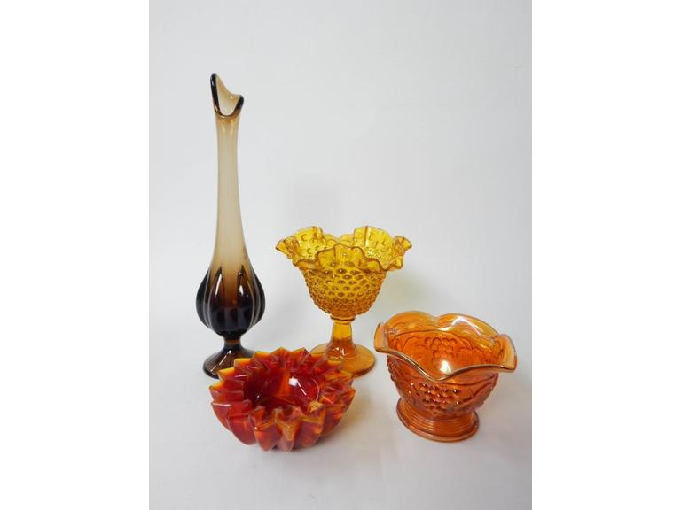 Collection of Vintage Art Glass Pieces