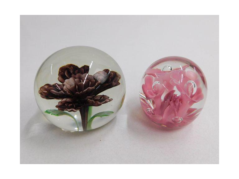 Glass Paperweights -- Lot of 2